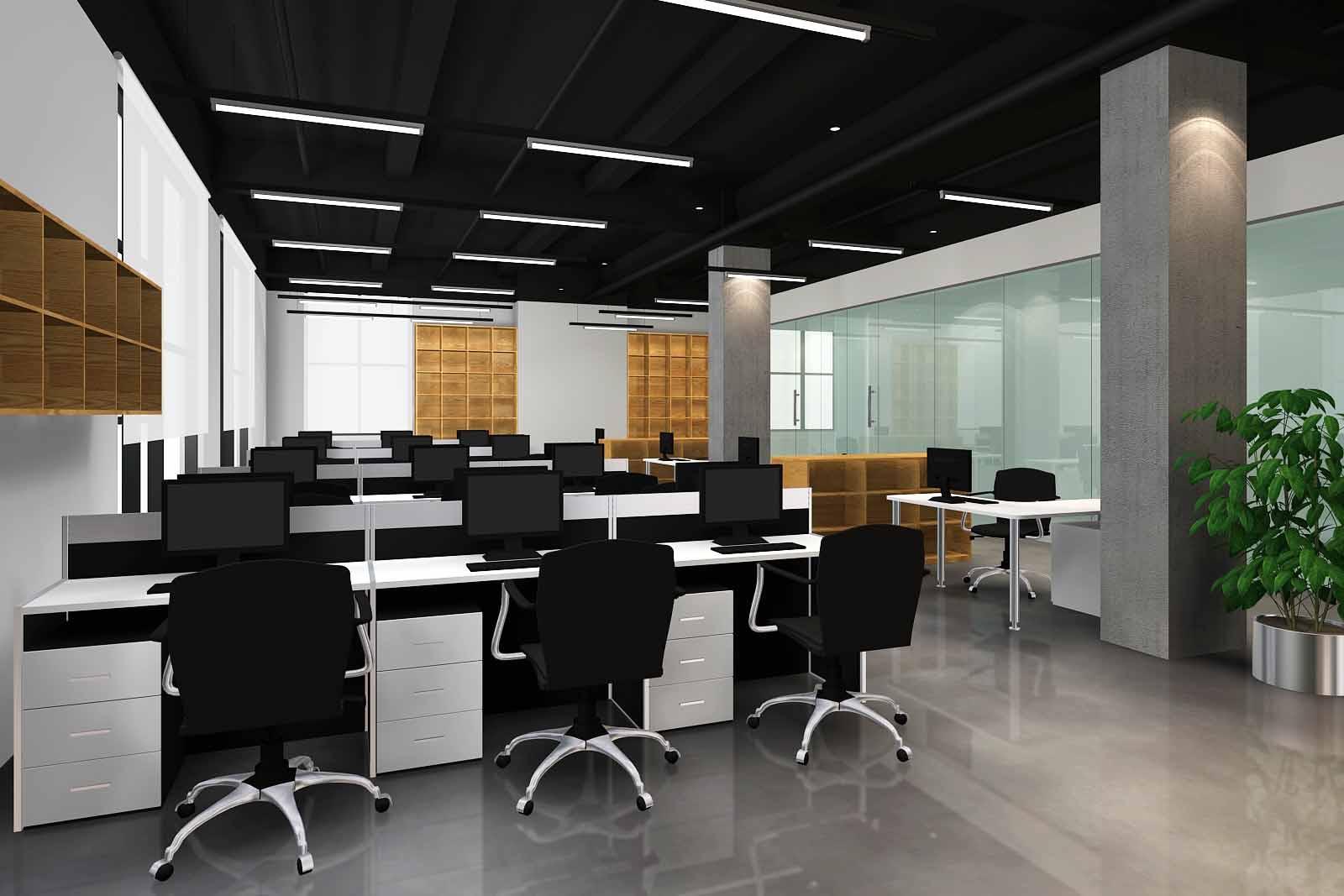 陆家嘴软件园办公室装潢案例-浦东装修公司