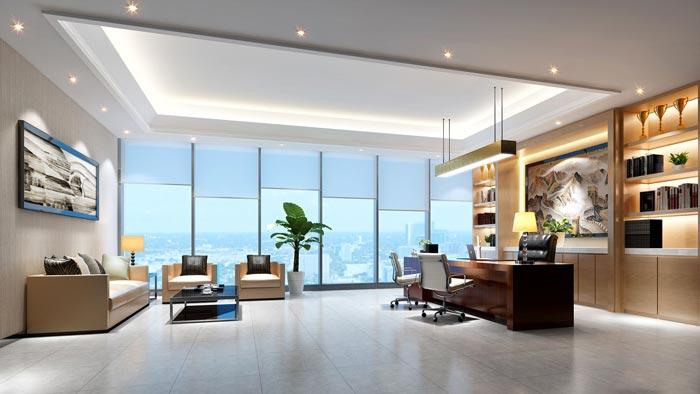 如何在250平米办公室装修内布置合理的植物位置?