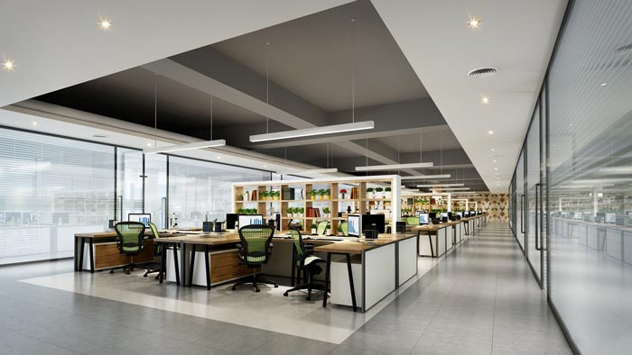办公室装修怎么装修空间会更大?
