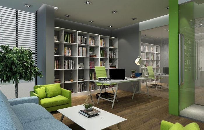 公司办公室装修中如何好收纳的概念?