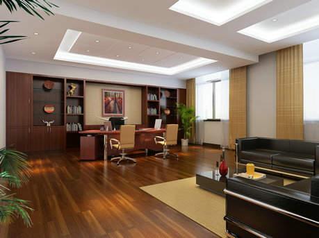 中式创意董事长办公室空间设计