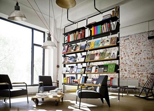 企业办公室装修中关于图纸的设计理念智能绘制书吧工程图片
